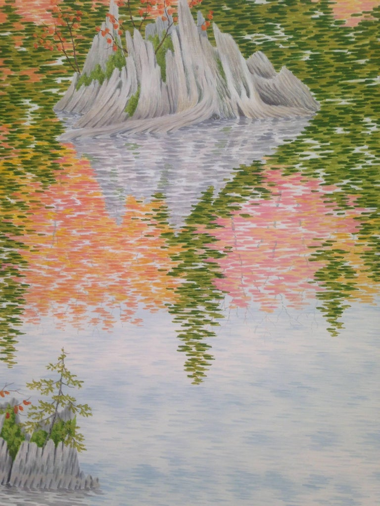 Drowned Forest, Casein Tempera on Panel, Landscape Painting For Sale 3