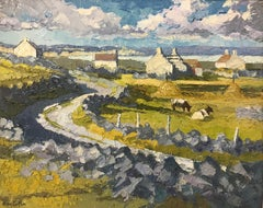 Impasto Oil Painting of Connemara Ireland by UK Royal British Artist Alan Cotton
