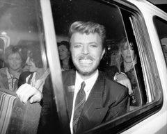 David Bowie: Big Smile in Car Window Globe Photos Fine Art Print