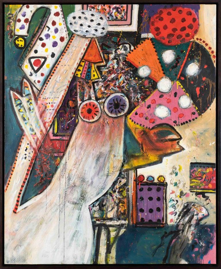 Improvisations on a Chagall Theme no. 1 - Alan Davie, painting, modern, british - Modern Painting by Alan Davie