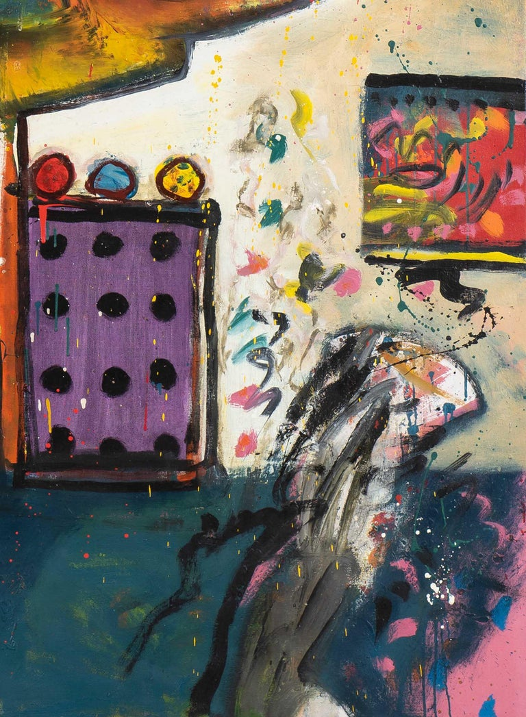 Alan Davie (1920-2014) Improvisations on a Chagall Theme no. 1 December 1966 oil on canvas 213 x 172.5 cm signed, dated and titled (on the verso)  Price: £95,000 GBP  Provenance: Morone Gallery, Milan Private collection, Paris (acquired from the