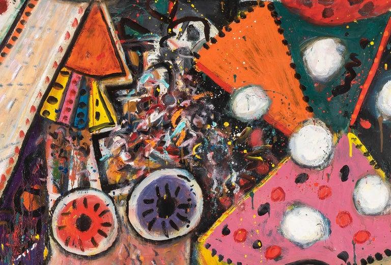 Improvisations on a Chagall Theme no. 1 - Alan Davie, painting, modern, british For Sale 1