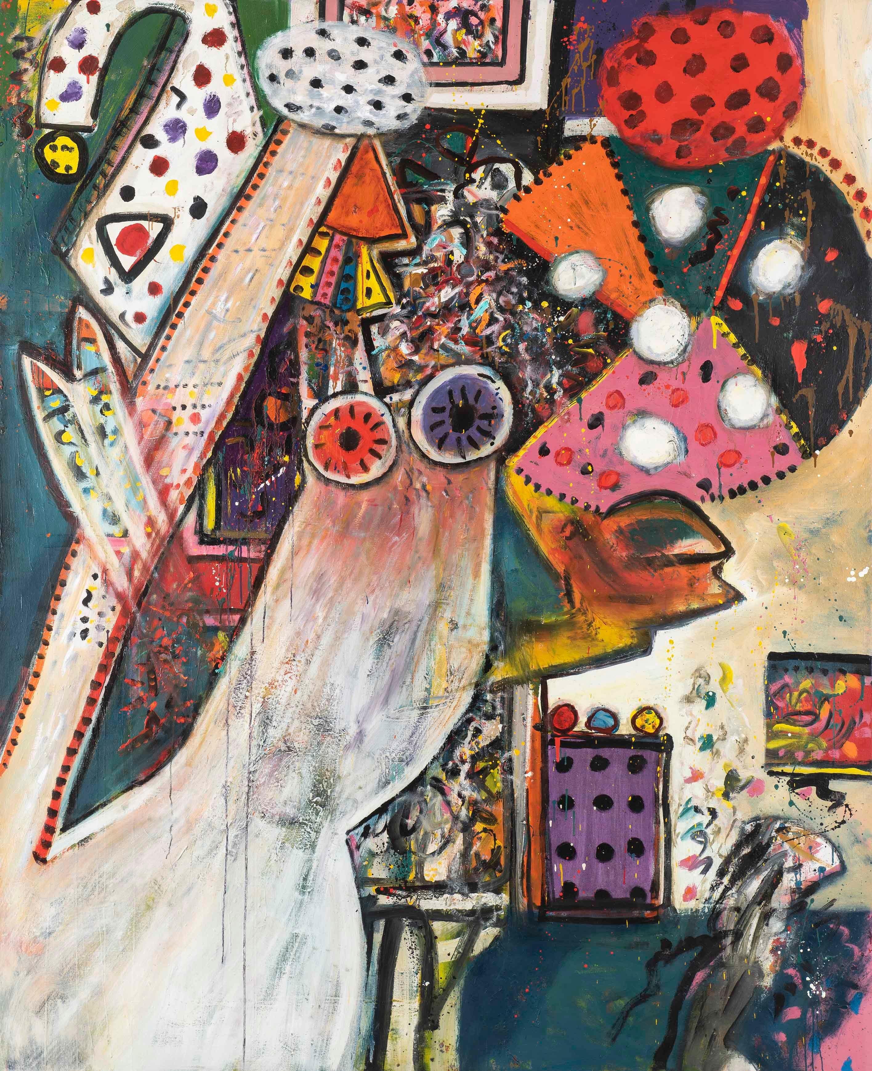 Improvisations on a Chagall Theme no. 1 - Alan Davie, painting, modern, british