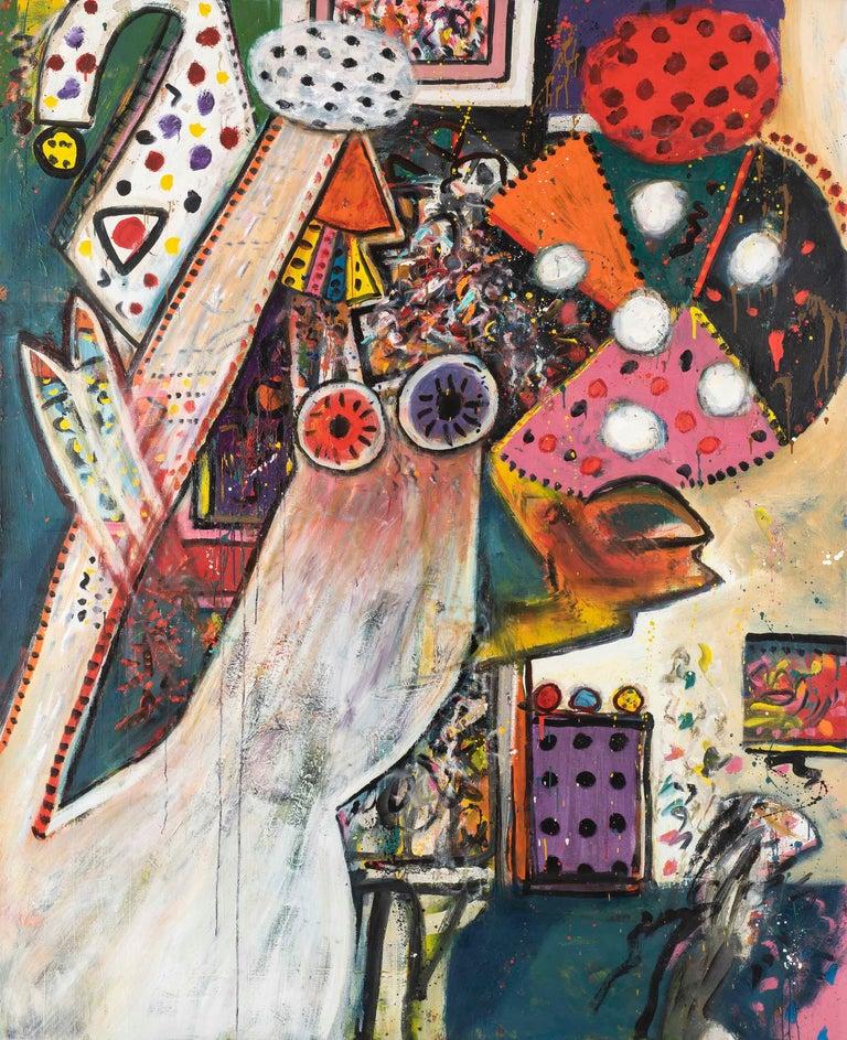 Improvisations on a Chagall Theme no. 1 - Alan Davie, painting, modern, british - Painting by Alan Davie