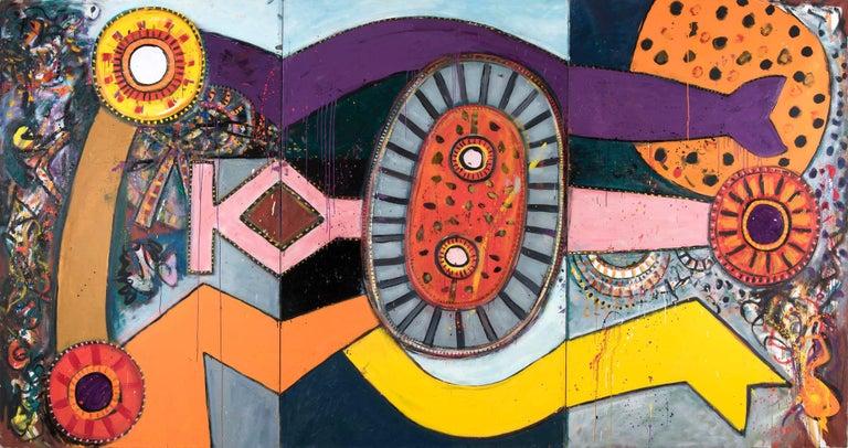 Queen Emma - Alan Davie, painting, modern, british, big, large, colorful, colors - Painting by Alan Davie