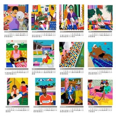 Alan Fears 2020 A3 Wall Calendar Figurative Painting Pop Art
