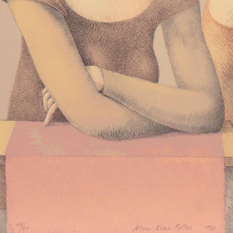 'Two Dancers', Yale, Cooper Union, Prix de Rome, Tyler School of Art, Assisi - Print by Alan Feltus