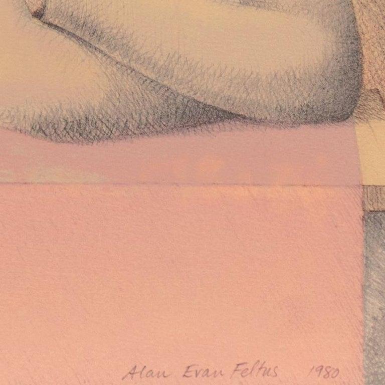'Two Dancers', Yale, Cooper Union, Prix de Rome, Tyler School of Art, Assisi - Modern Print by Alan Feltus