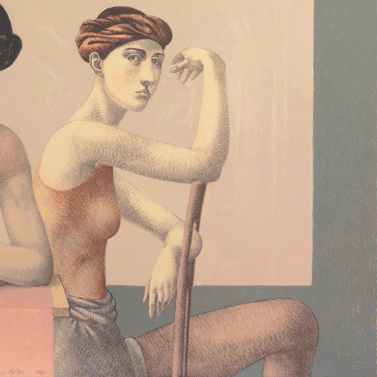 'Two Dancers', Yale, Cooper Union, Prix de Rome, Tyler School of Art, Assisi For Sale 1