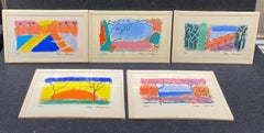 A Warm Place, Set of 5 Pastels by Alan Gussow, 1995