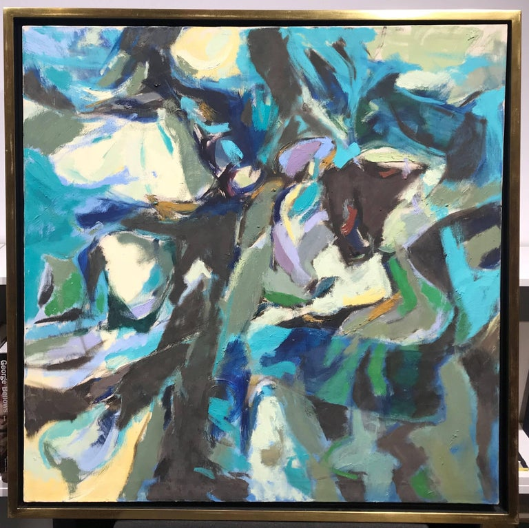 Abstract Expressionism, Tide Pool, Monhegan, 1956 - Painting by Alan Gussow