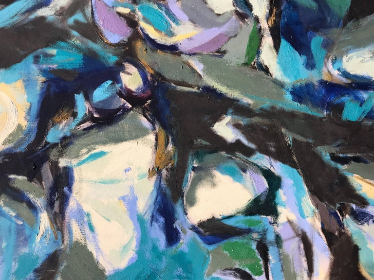 Abstract Expressionism, Tide Pool, Monhegan, 1956 - Gray Abstract Painting by Alan Gussow