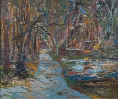 Path in the Province Lands, Cape Cod, Massachusetts Painting by Alan Gussow 1968
