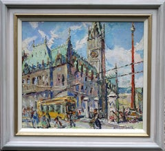 The Alster Hamburg Scottish Impressionist oil painting German city Inter War Art