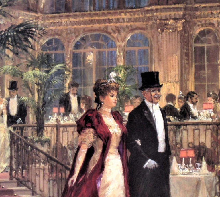 A Festive Occasion - Brown Figurative Print by Alan Maley