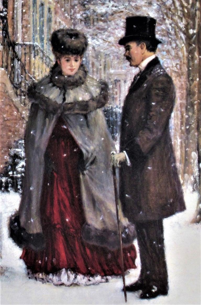 Winter Romance - Impressionist Print by Alan Maley