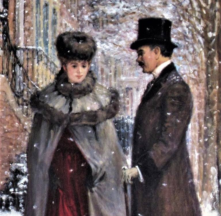 Winter Romance - Gray Figurative Print by Alan Maley