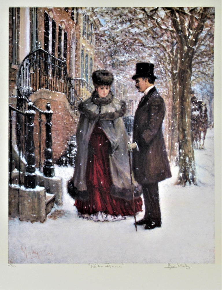 Alan Maley Figurative Print - Winter Romance