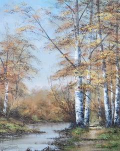 Alan Preece - 20th Century Oil, Autumn Tall Trees
