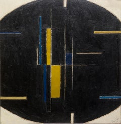 Forms on an Ovoid Ground - 20th Century, Abstract, Oil on board by Alan Reynolds