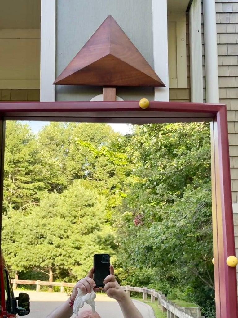 Alan S. Kushner Studio Craft Sculptural Wall Mirror For Sale 7