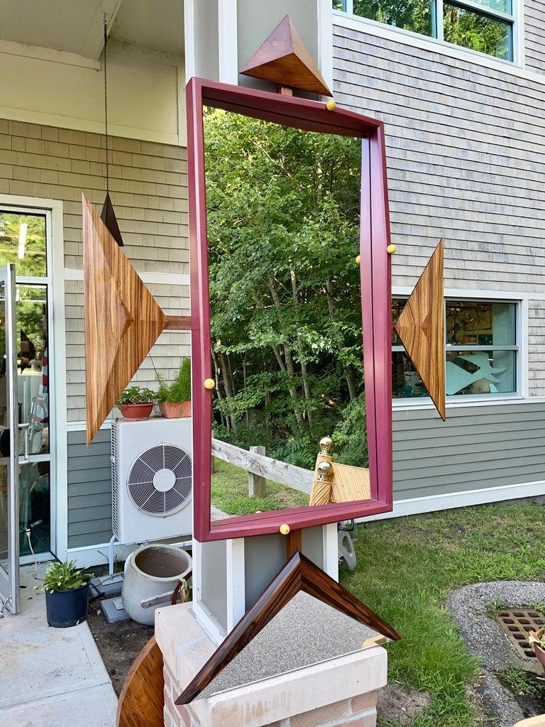 Alan S. Kushner Studio Craft Sculptural Wall Mirror For Sale 11