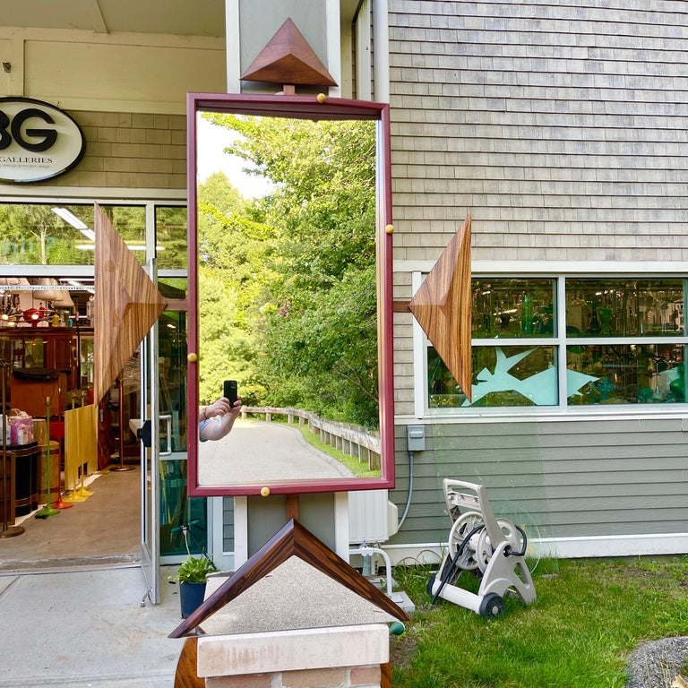 Post-Modern Alan S. Kushner Studio Craft Sculptural Wall Mirror For Sale