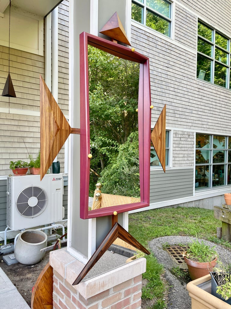 Alan S. Kushner Studio Craft Sculptural Wall Mirror In Good Condition For Sale In Hingham, MA