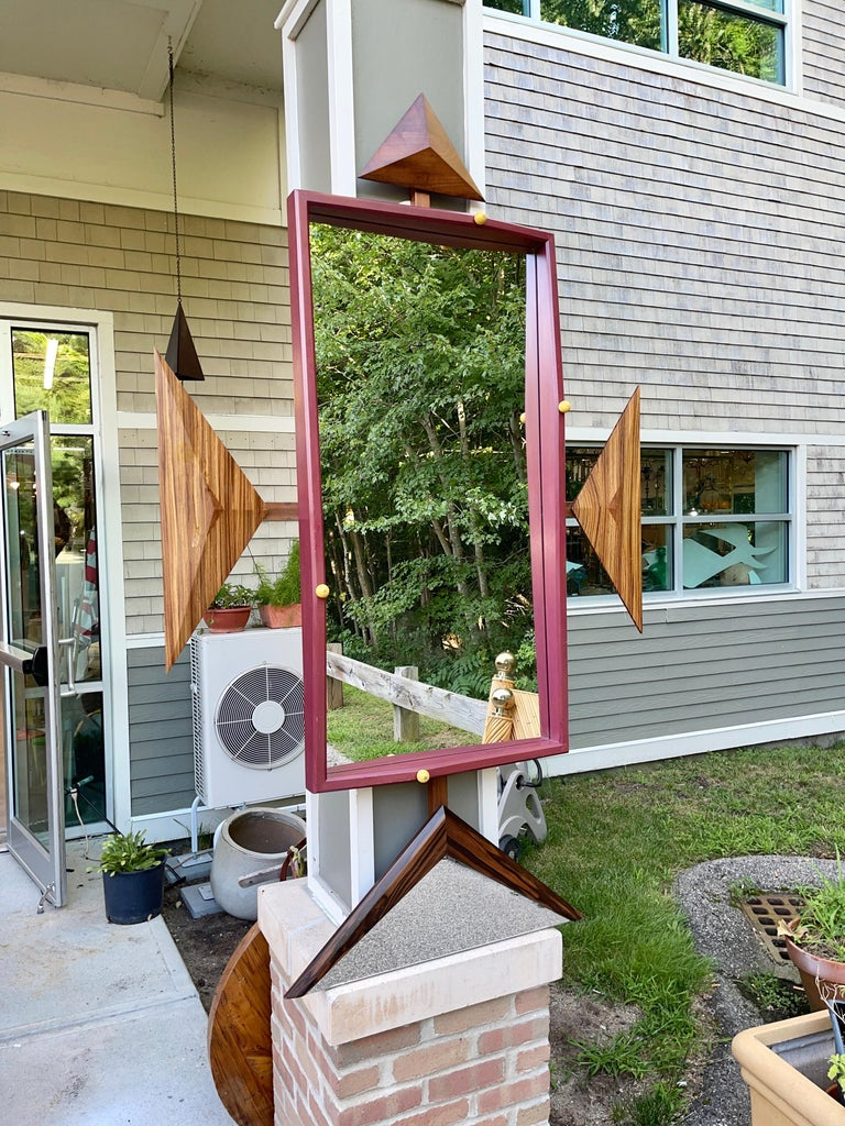 Late 20th Century Alan S. Kushner Studio Craft Sculptural Wall Mirror For Sale