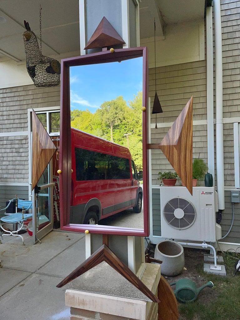 Alan S. Kushner Studio Craft Sculptural Wall Mirror For Sale 1