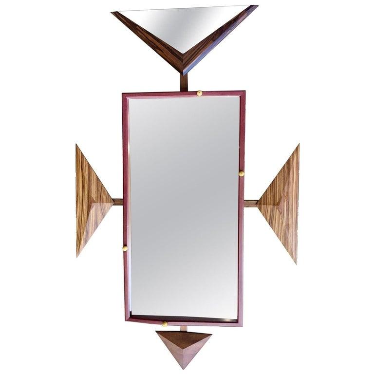 Alan S. Kushner Studio Craft Sculptural Wall Mirror For Sale