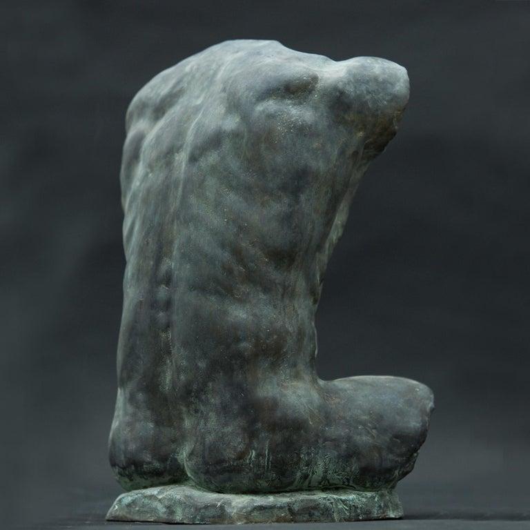 Italian Alan Torso Bronze Sculpture For Sale