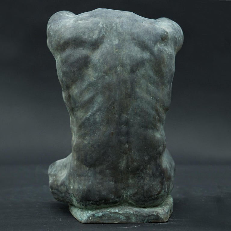 Alan Torso Bronze Sculpture In New Condition For Sale In Milan, IT