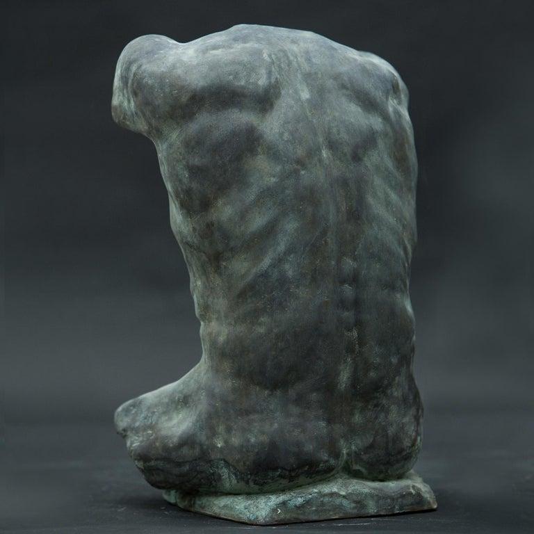 Contemporary Alan Torso Bronze Sculpture For Sale