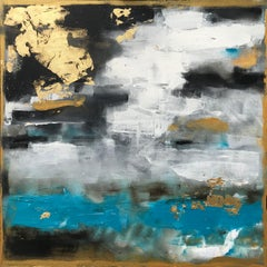 Storm at Sea, Abstract Painting