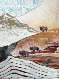 Where the Buffalo Roam, Original Painting