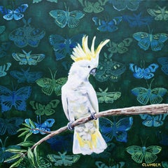 Yellow Crested Cockatoo, Original Painting