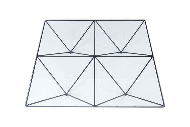 Steel Alanda Square Coffee Table by Paolo Piva for B&B Italia For Sale