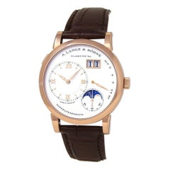 A.Lange & Sohne Lange 1 Moonphase 18k Rose Gold Hand-Winding Men's Watch 192.032