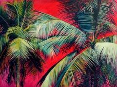 Alanna Eakin, Pipa, Palm Tree Art, Contemporary Art, Original Painting