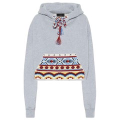 Alanui Embroidered Cotton & Cashmere Blend Hoodie