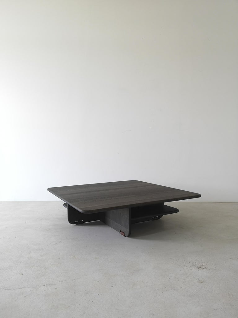Canadian Alar Solid Hardwood Coffee Table by Izm Design For Sale