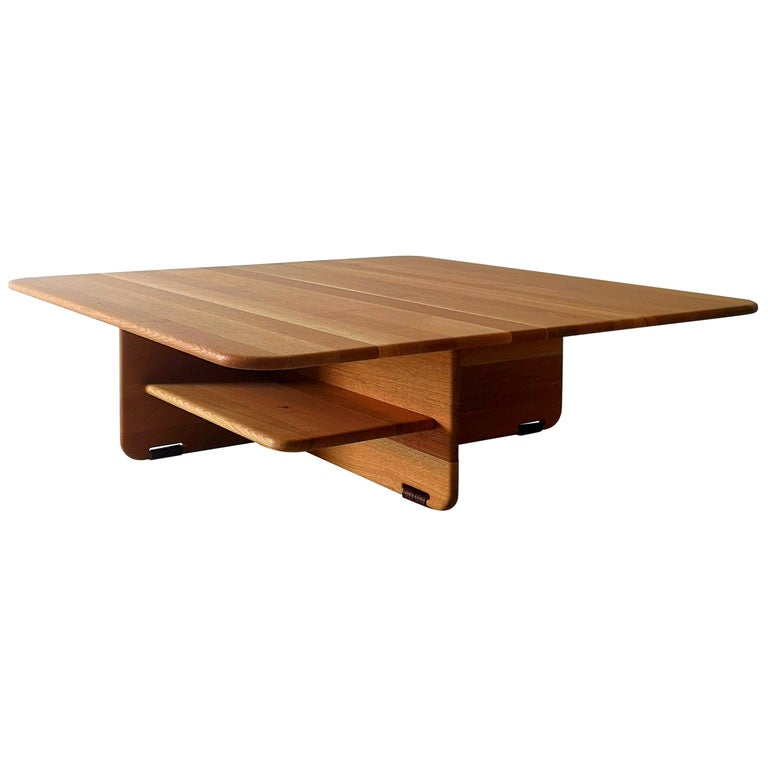 Alar Solid Hardwood Coffee Table by Izm Design For Sale