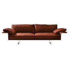 Alato Brown Leather Sofa