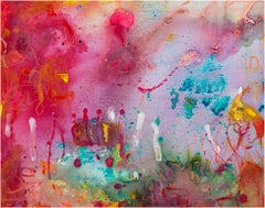 """""""Neon-A-Go-Go II,"""" Abstract Mixed Media on Canvas signed by Alayna Rose"""