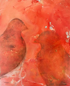'In Stillness' original oil painting signed by Alayna Rose abstract birds