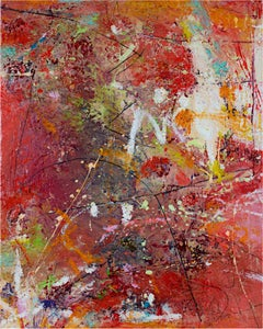 """Let It Happen,"" Contemporary Abstract Expressionist Oil signed by Alayna Rose"