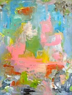 'Undefined' original signed abstract acrylic painting on canvas by Alayna Rose
