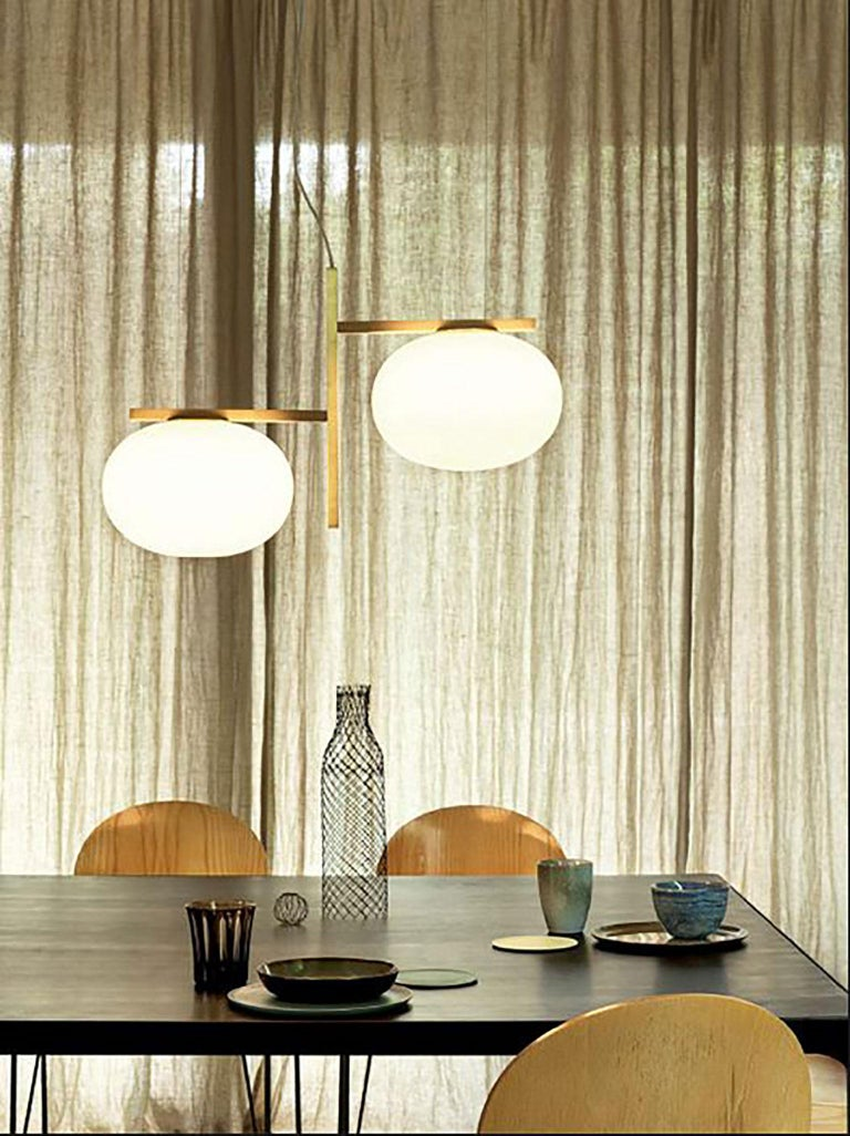 Alba Suspension Lamp by Mariana Pellegrino Soto for Oluce In New Condition For Sale In New York, NY