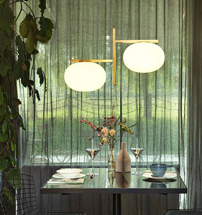 Brass Alba Suspension Lamp by Mariana Pellegrino Soto for Oluce For Sale